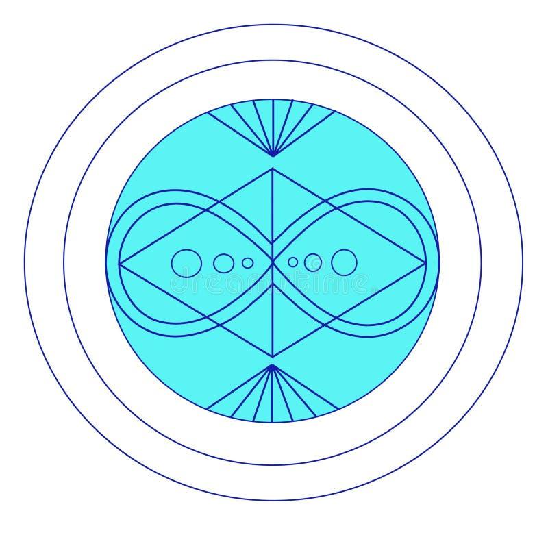 Färggeometri av oändligheten och harmoni vektor illustrationer