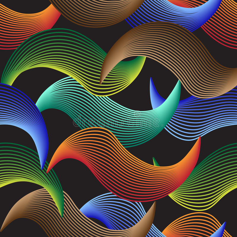 Färgglad abstrakt vågbakgrundstegelplatta royaltyfria bilder