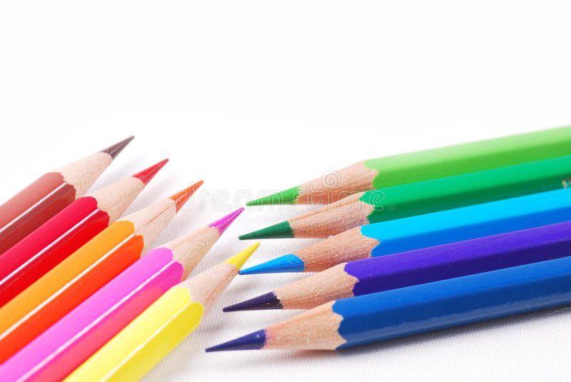 Färgglad blyertspenna royaltyfria foton