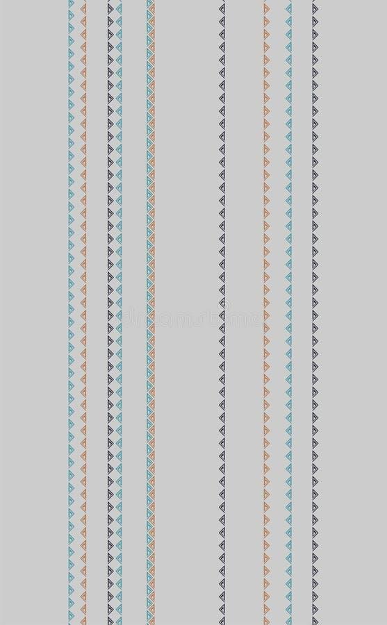 Färgglad elegant vertikal geometrisk vektordesign på grå bakgrund vektor illustrationer