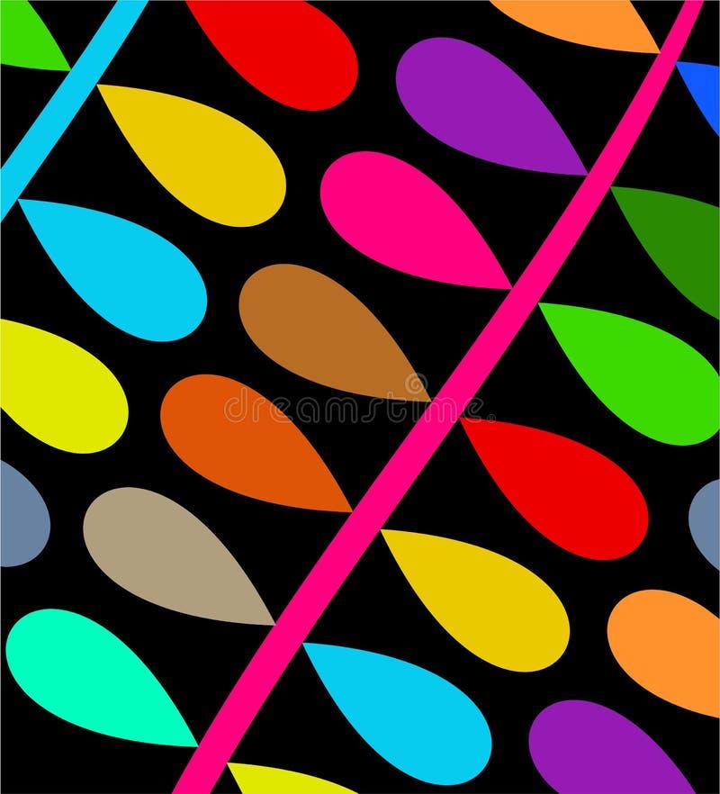 färgglad filial vektor illustrationer