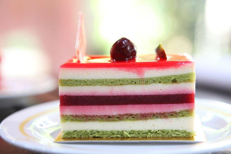 Färgglad fruktkaka arkivbild
