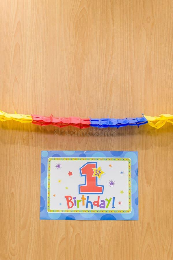 Färgglad garnering för födelsedagparti royaltyfri fotografi