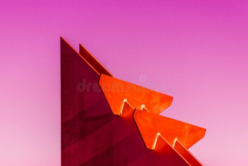 Färgglad geometri royaltyfri fotografi