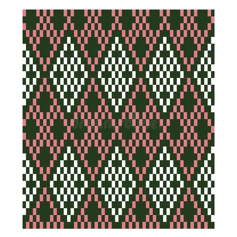 Färgglad klassiker moderna Argyle Seamless Print Pattern royaltyfri illustrationer