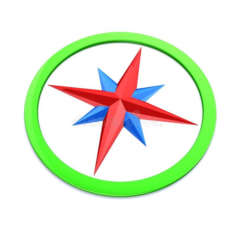 färgglad kompass vektor illustrationer
