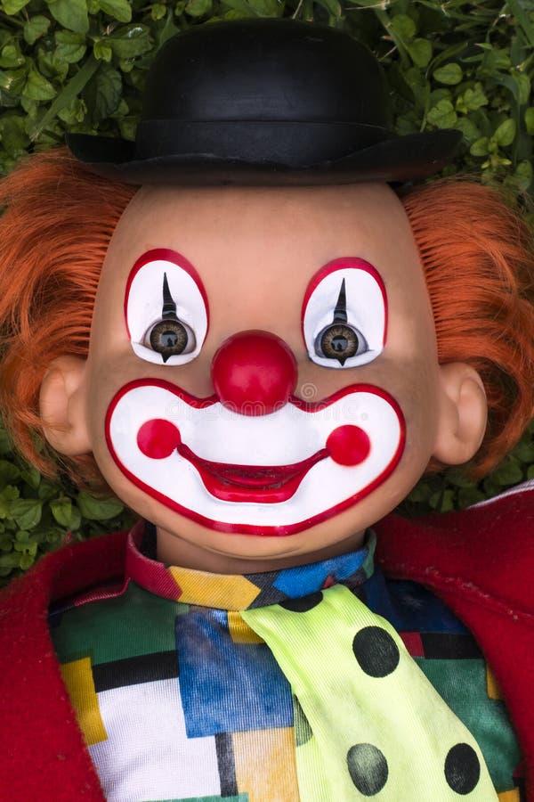 Färgglad le clownframsida royaltyfria foton