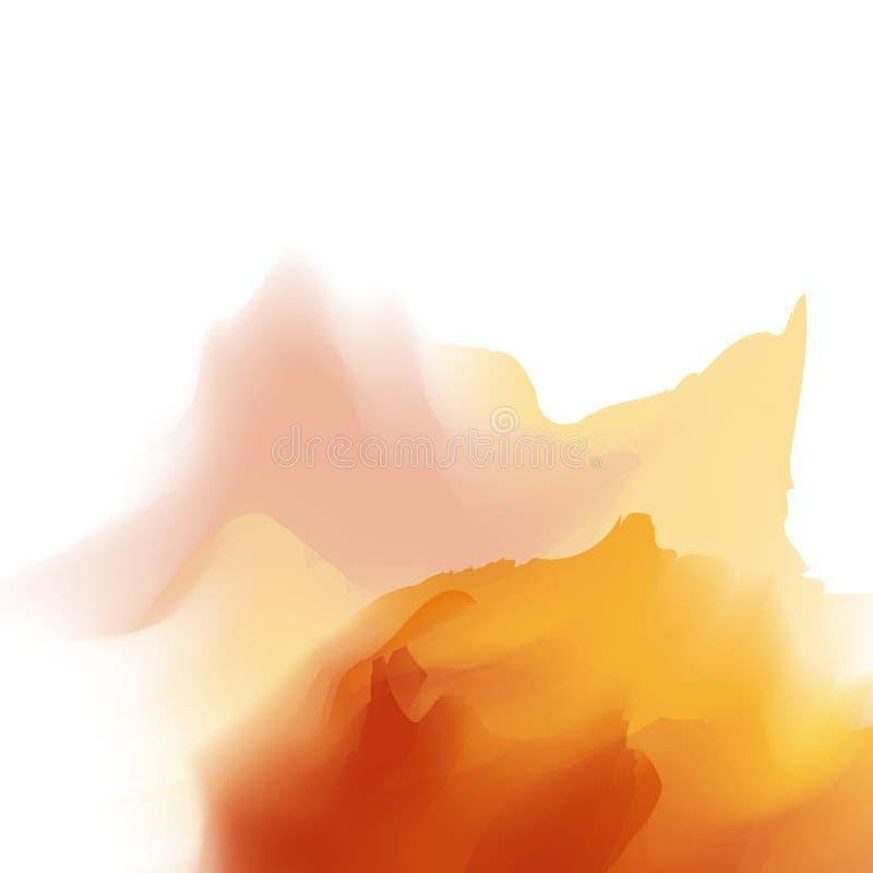 Färgglad mall Vattenfärgen plaskar vektor stock illustrationer