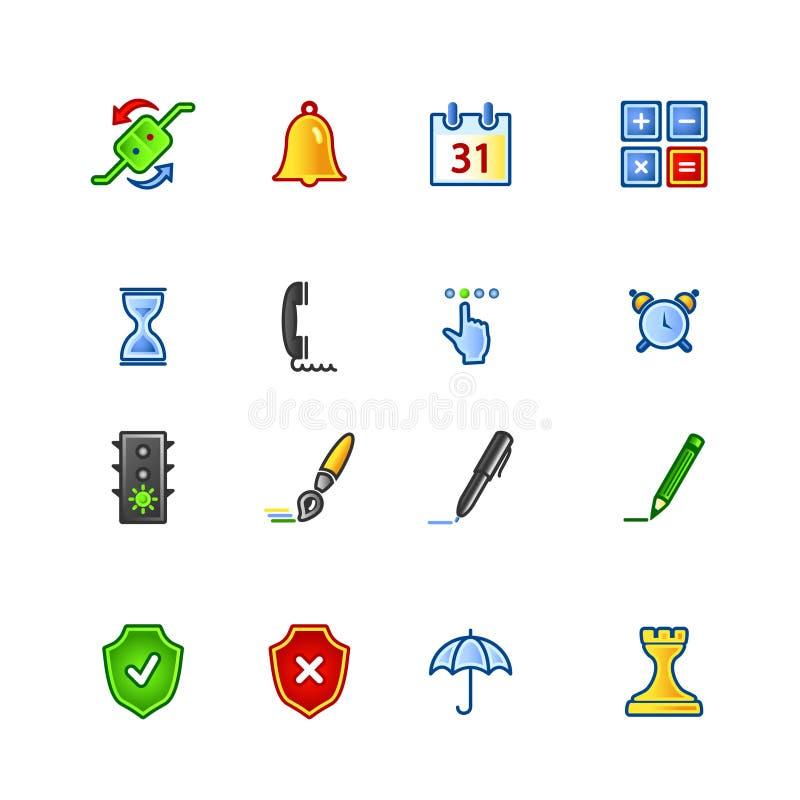 färgglad symbolsprogramvara royaltyfri illustrationer
