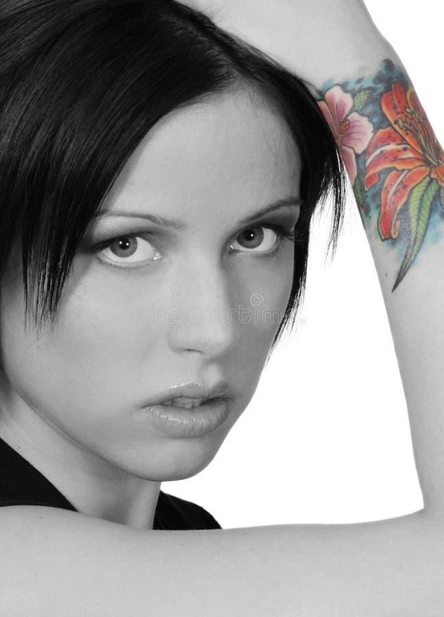 färgglad tatuering arkivfoton
