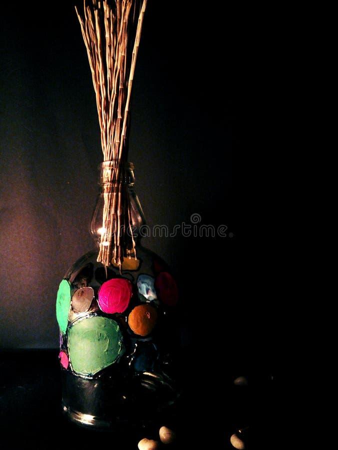 färgglad vase arkivfoto
