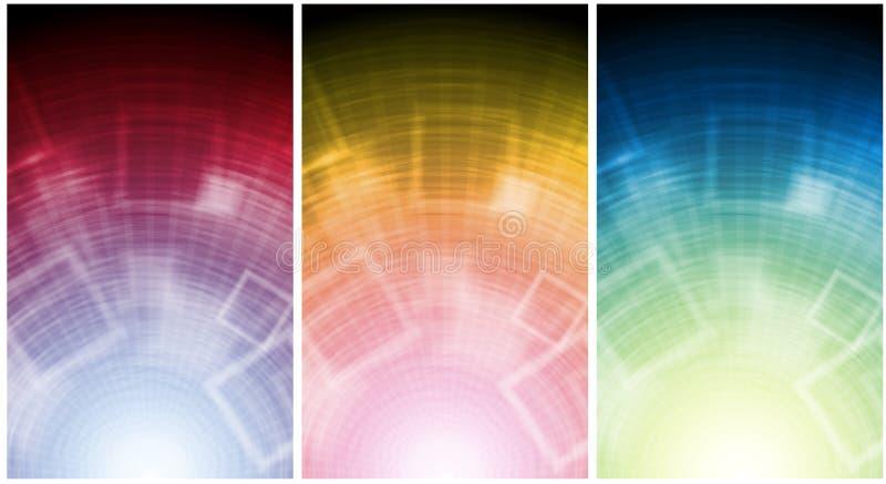 Download Färgglada baner vektor illustrationer. Illustration av element - 19779639