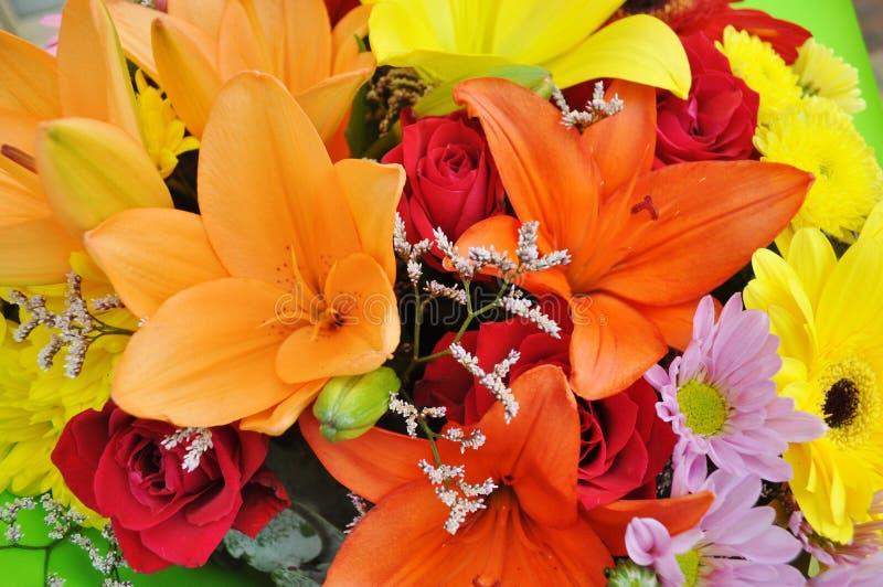 färgglada blommor för bukett royaltyfri foto