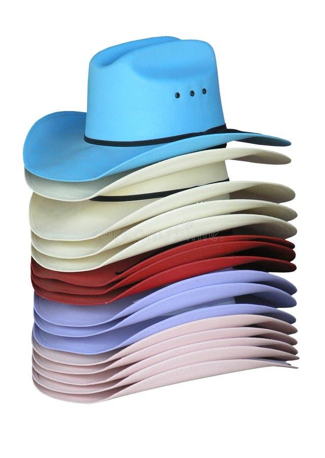 färgglada cowgirlhattar arkivbild