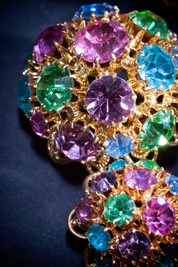 färgglada juvlar royaltyfri fotografi
