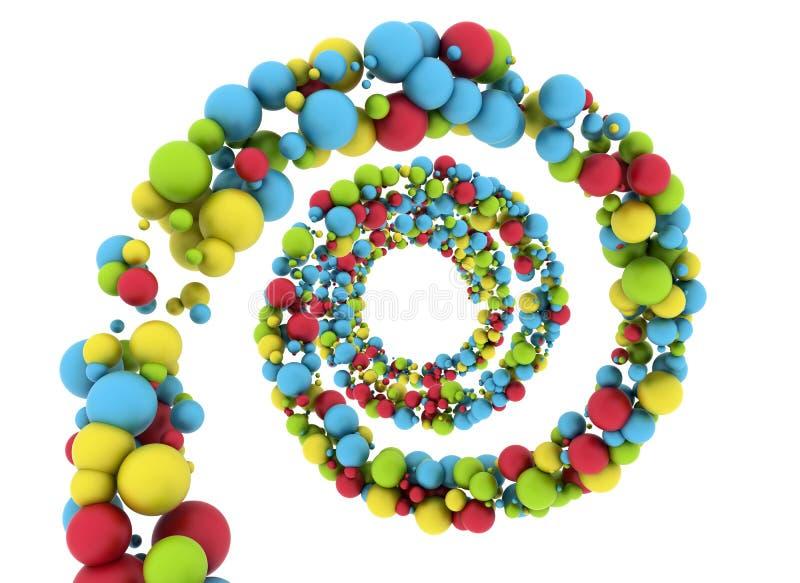 färgglada spheres vektor illustrationer