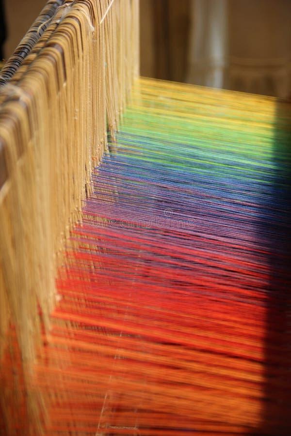 Färgglada trådar arkivfoto