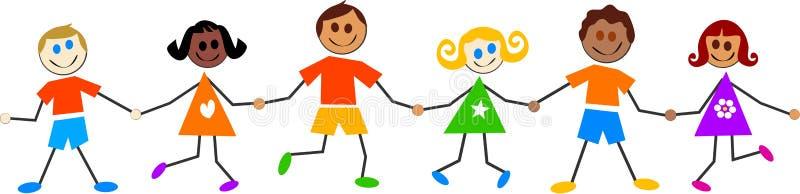 färgglada ungar stock illustrationer