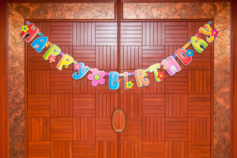 Färgglade födelsedaggarneringar fotografering för bildbyråer