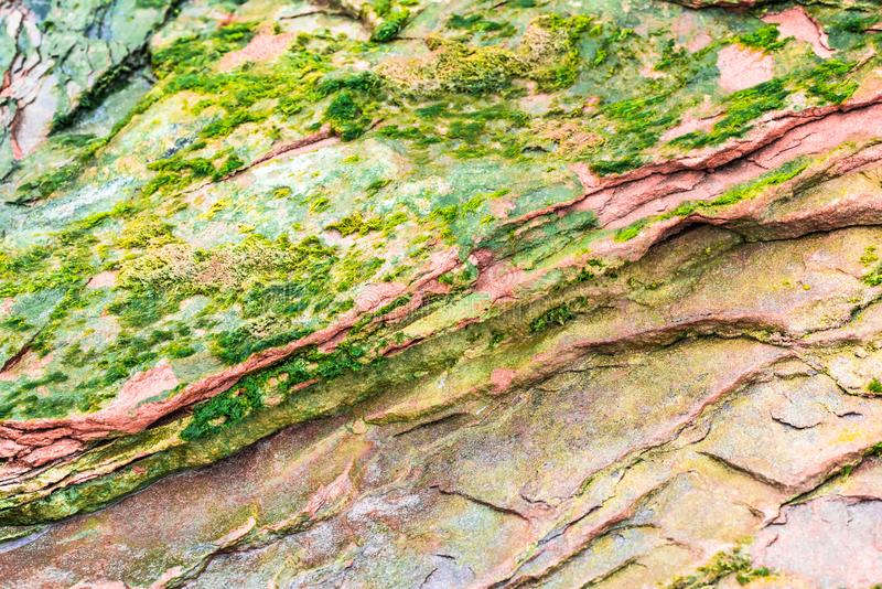 """Färgglade sedimentära stenar som bildas av ackumulationen av naturlig bottensats†"""", vaggar lagerbakgrunder, modeller och textur royaltyfri fotografi"""