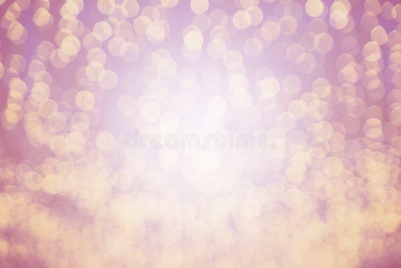 Färgglat av rosa ljust suddigt för bokeh arkivfoto