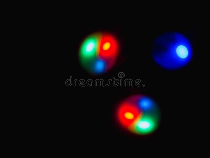 Färgglat sfärljus arkivfoton