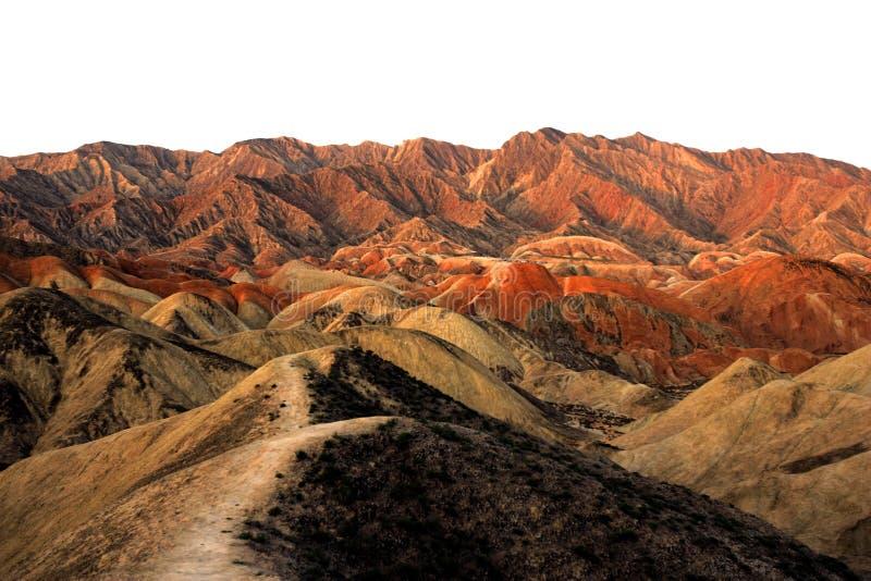 färgglatt berg arkivfoto