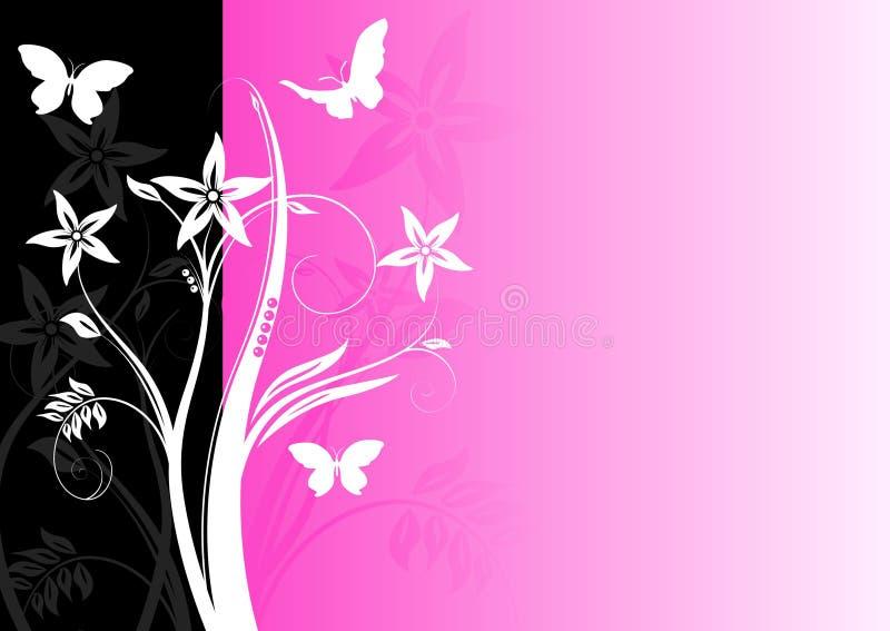 färgglatt blom- för bakgrund vektor illustrationer