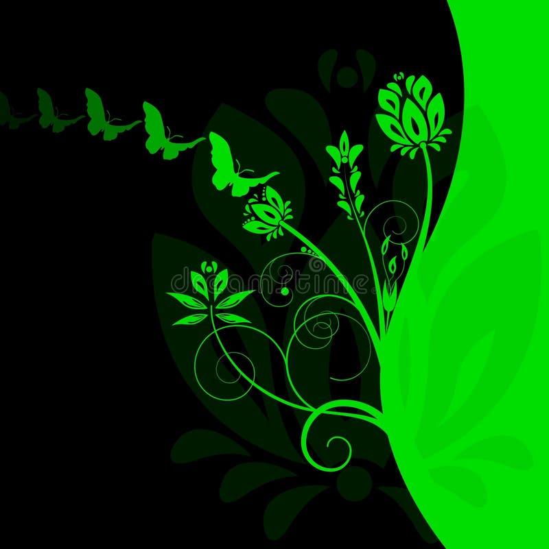färgglatt blom- för bakgrund royaltyfri illustrationer