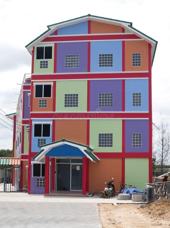 färgglatt hus royaltyfria foton
