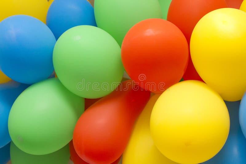 Färgglatt lufta ballonger royaltyfri foto