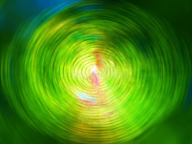 färggreenswirl royaltyfri bild