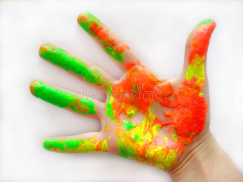 färghand arkivfoton