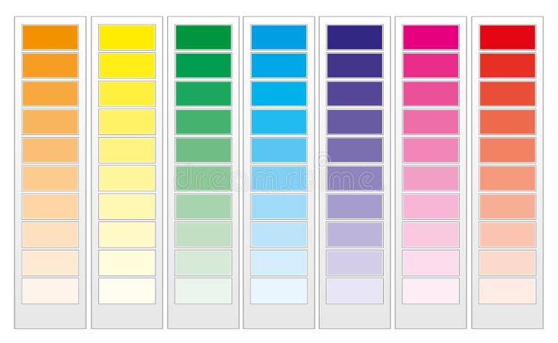 färghandbok royaltyfri illustrationer