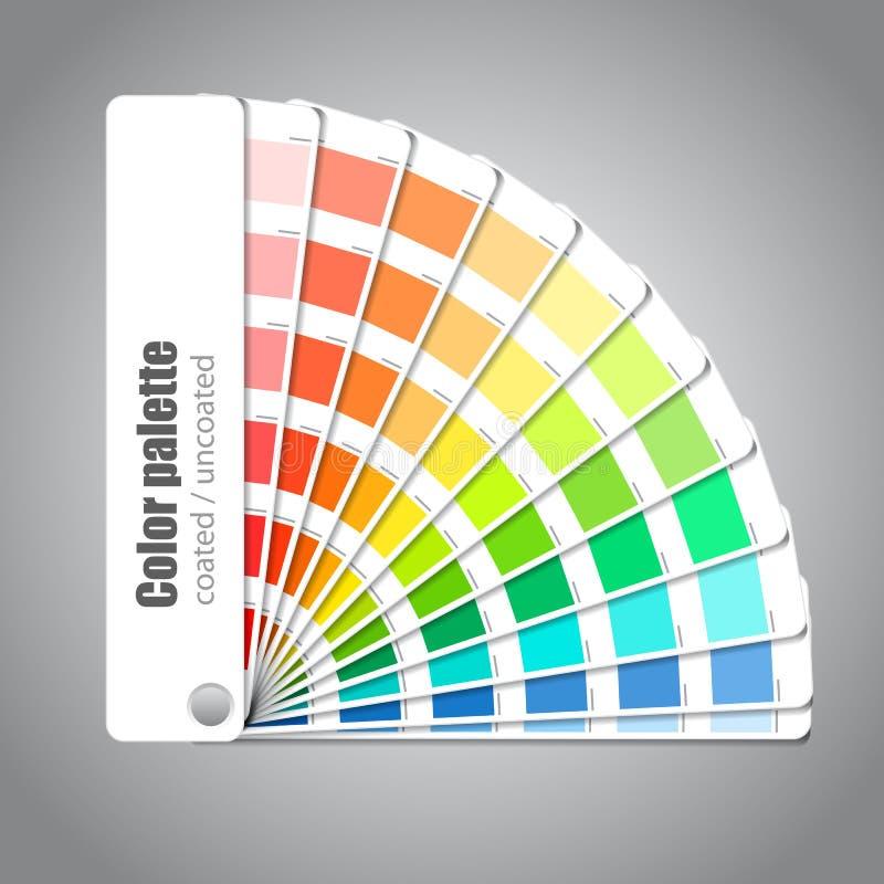 färghandbokpalett vektor illustrationer
