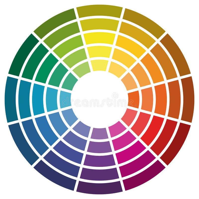 färghjul med tolv färger royaltyfri illustrationer