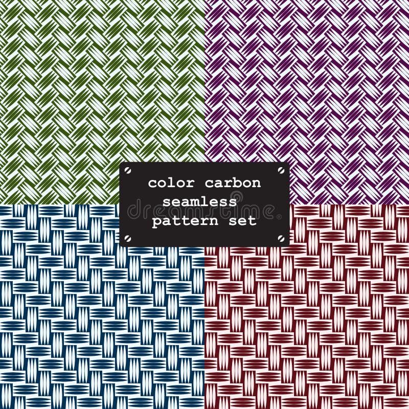 Färgkolfiber stock illustrationer