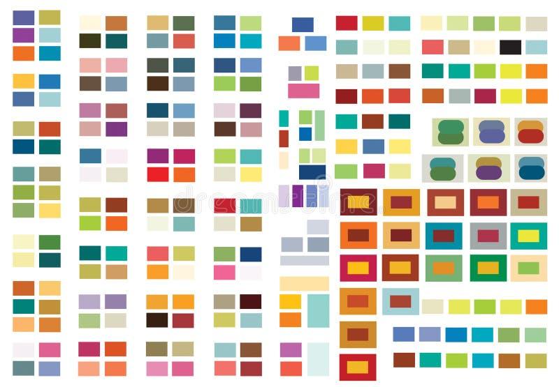 färgkombinationer skrivar ut rengöringsduk royaltyfri illustrationer