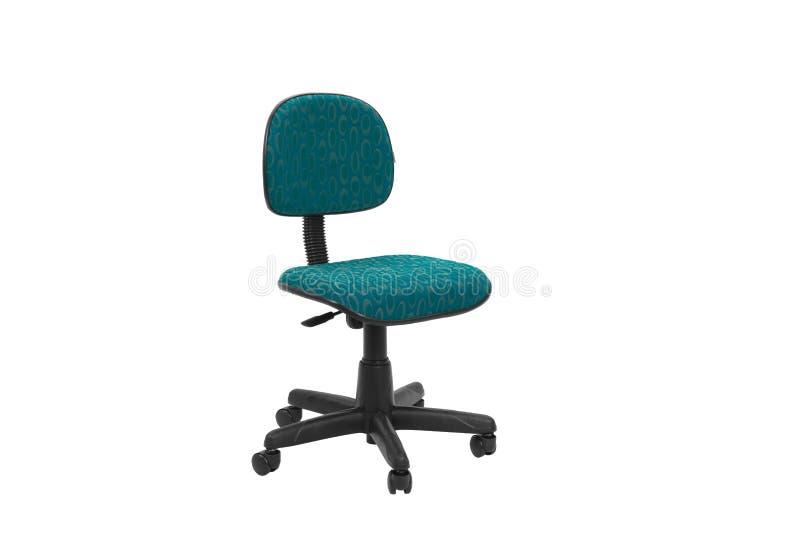Färgkontor en stol Objekt som isoleras på bakgrund royaltyfria bilder