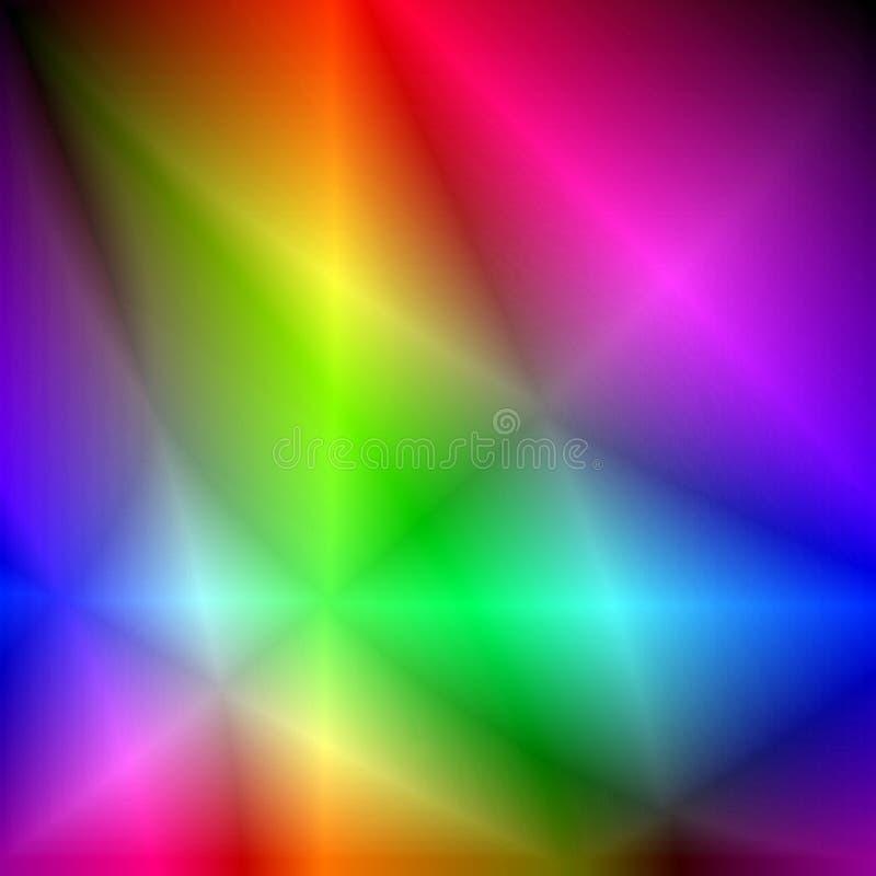 färgkristaller vektor illustrationer