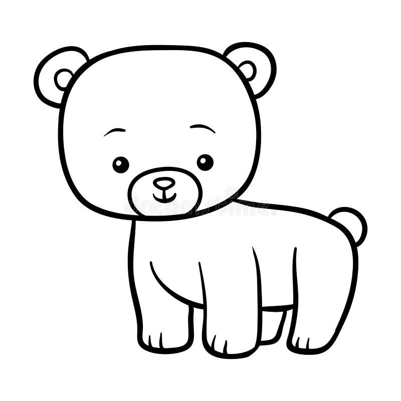 Färgläggningbok, björn stock illustrationer