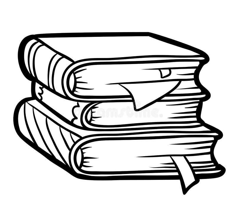 Färgläggningbok, bunt av böcker royaltyfri illustrationer