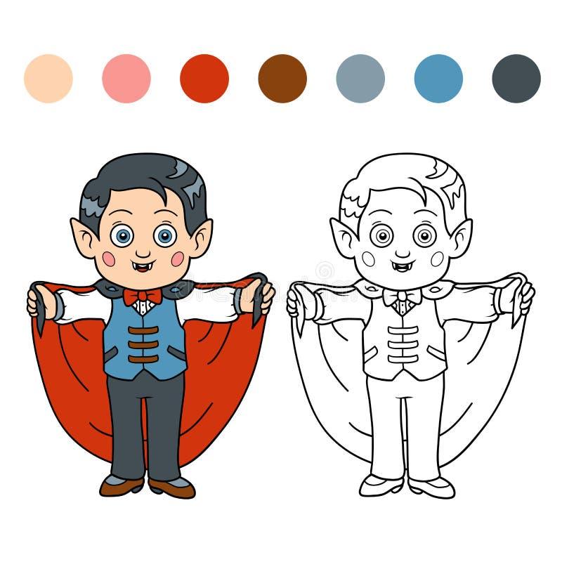 Färgläggningbok för barn: Allhelgonaaftontecken (vampyr) vektor illustrationer