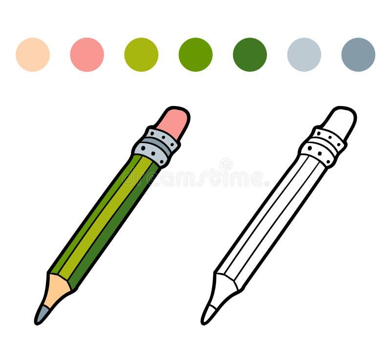 Färgläggningbok för barn (färgblyertspennan) royaltyfri illustrationer