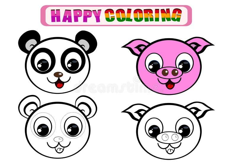 Färgläggningbok för ungar royaltyfri bild