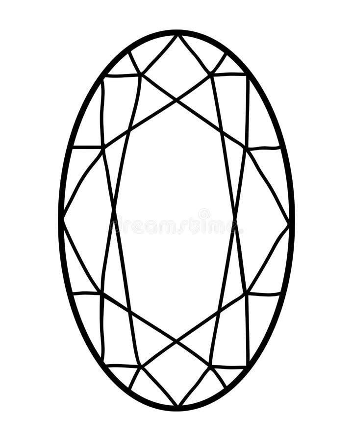 Färgläggningbok, Gemstone vektor illustrationer