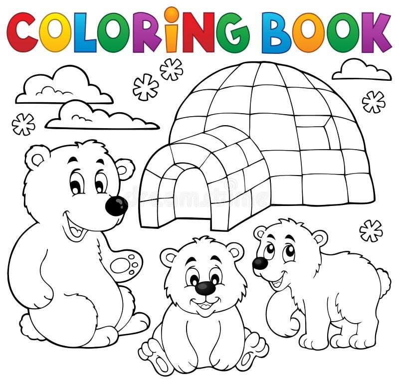Färgläggningbok med polart tema 1 royaltyfri illustrationer