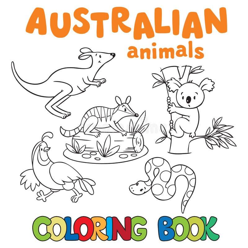 Färgläggningbok med vilda djur vektor illustrationer