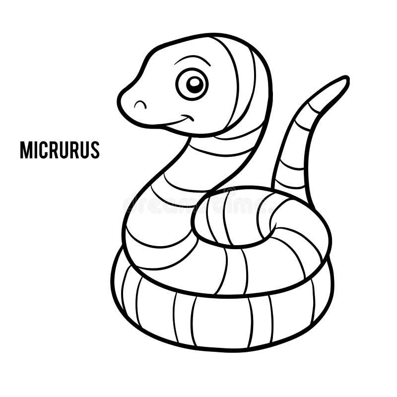 Färgläggningbok, Micrurus royaltyfri illustrationer