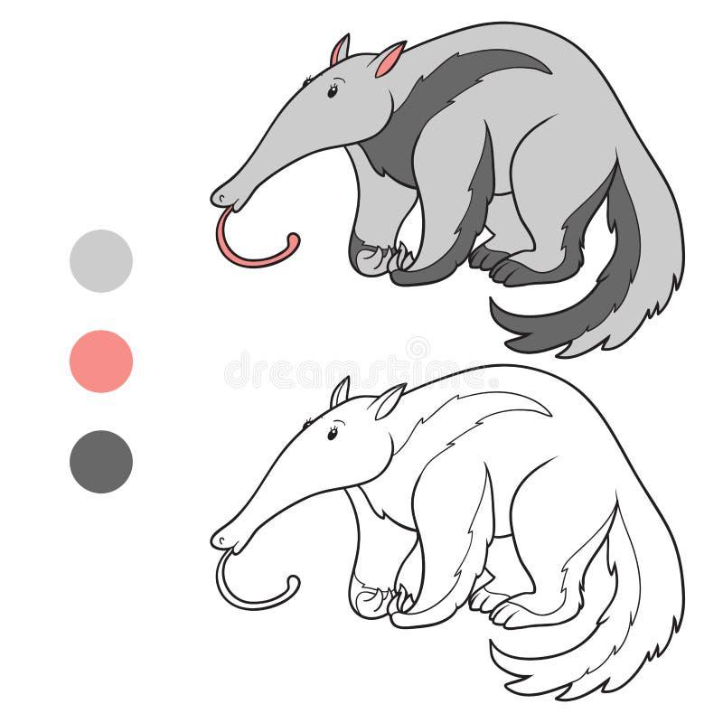 Färgläggningbok (myrsloket) royaltyfri illustrationer